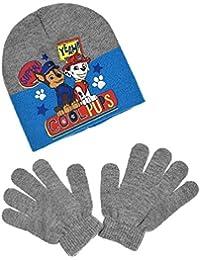 Bonnet et gants enfant garçon La Pat' Patrouille 3 coloris de 3 à 9ans