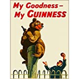 FlowerBeads Vintage Metallmalposter Blechschild Wandaufkleber Bar Shop Home Decor Art Sign – My Goodness My Guinness