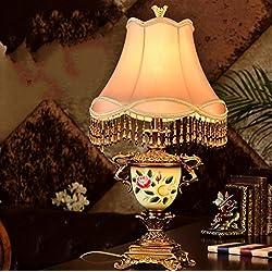 ZWL Lámpara De Mesa Moderno China Caliente Villa Salón Lámpara Dormitorio Lámpara Lámpara De Cama Moda.z ( Color : B )