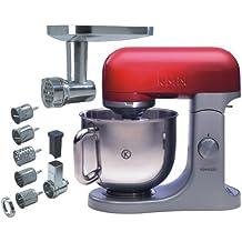 Kenwood KMX 61 - Robot de cocina (Rojo, Acero inoxidable, Acero inoxidable, Aluminio)