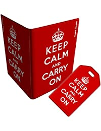 Stray Decor (Keep Calm And Carry On) funda para pasaporte/Cover/Billetera y equipaje etiqueta/etiqueta Combo