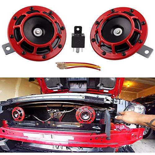 Preisvergleich Produktbild ToolHome-Verbesserung, TwoCC Groß Laut Paar 12 V Kompakt Elektrisch Explosion Groß Ton Hupe für Auto LKW