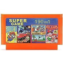 Rishil World 190 In 1 8 Bit Integrated Circuit Game Cartridge Contra1 Adventure Island For NES Nintendo FC