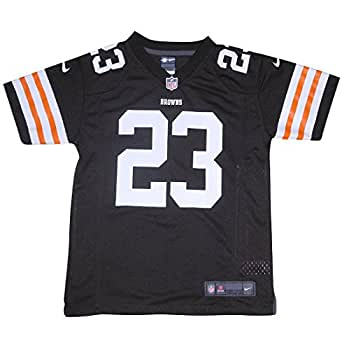 NFL Cleveland Browns Haden #23 Youth Athletic Short Sleeve Jersey M/10-12 Brown