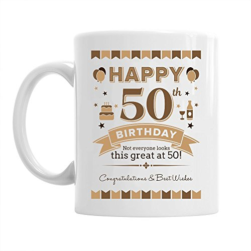 Taza De Cafe Con Texto En Ingles50th Birthday Gift For Men 1968 Keepsake 50 Year Old