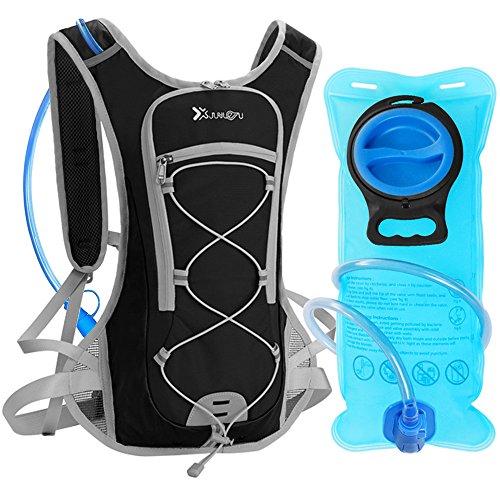 Sac Hydratation avec Poche à Eau 2L DeFe Sac a Dos Running Ultraléger Sac Trail Respirant pour...