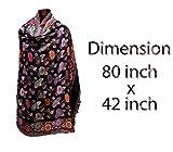 Majik Women's Pure Woolen Shawl, 45 Grams,Multicolor