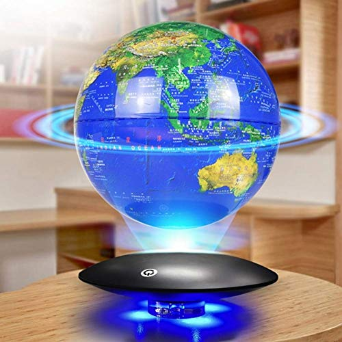 Schwimmende Globen Sphere Map Blue Earth schwebende Weltkugel mit LED-Leuchten Maglev Global World Map Desktop - Blau - Modell 8