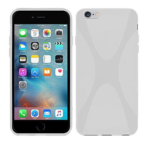 Apple iPhone 6S Plus (5,5 Zoll) - TPU Schutzhülle X-Style X Design Case Schutz Cover Etui Hülle in Transparent - RT-Trading Weiß