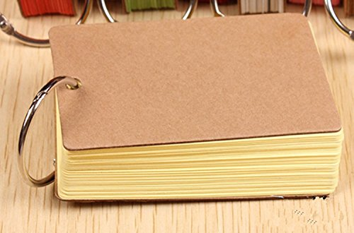 lenhart-pack-of-2-binder-ring-easy-flip-flash-cards-study-cards-50-unruled-blank-white-pages-yellow