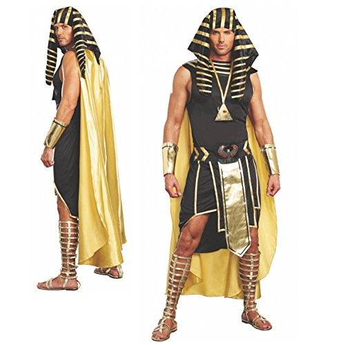 Kostüm Pharao Unas Gr. M- XL König Ägyptens Verkleidung Karneval Ägypter (L) (König Pharao Kostüm)