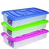 MSV 344 - Caja de almacenaje con ruedas (plástico, 30 L