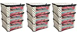 #10: Kuber Industries™ Non Woven Polka Dots Designer Saree Cover Set of 9 Pcs (Ivory)
