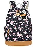 Leaper Blumen Rucksack Retro Rucksack für Outdoor Camping Picknick Außflug Sports Uni Rucksack Schultasche