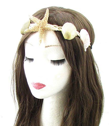 ell Stirnband Gold Cream Meerjungfrau Kostüm Boho 631Stil der Zwanzigerjahre (Meerjungfrau Stirnband)