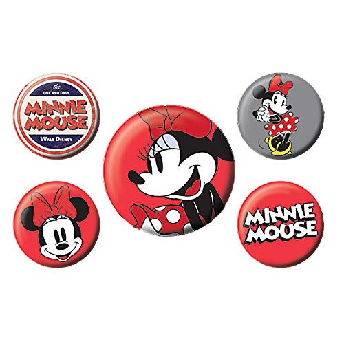 Original Disney Classic Minnie Mouse 5-teiliges Abzeichen Set Mickey (Disney Pin Set)