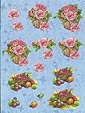 Nr.07 Blume Obst Rose 3D Bogen 2 Motive Modell vorgestanzt