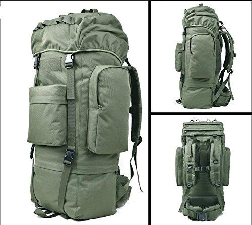 Morral im Freien Wandern Reisetasche 100L Große Kapazität Freizeit Reisen Taschen Sport Taschen-Rucksack für Männer und Frauen zu Fuß Armeegrün