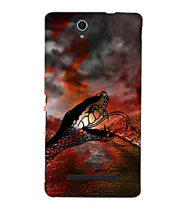 Snake Illustration 3D Hard Polycarbonate Designer Back Case Cover for Sony Xperia C3 Dual D2502 :: Sony Xperia C3 D2533