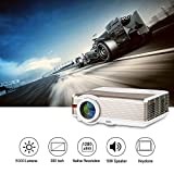 LCD Accueil HD Projecteur 1080P avec Haut-parleurs HDMI USB Zoom Keystone, 5000...