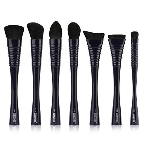 Yiitay 7 pièces Lot de brosse de maquillage professionnel visage Fard à paupières lèvres Pinceaux de maquillage Poudre Liquide Crème Cosmetics Estompeur Outil