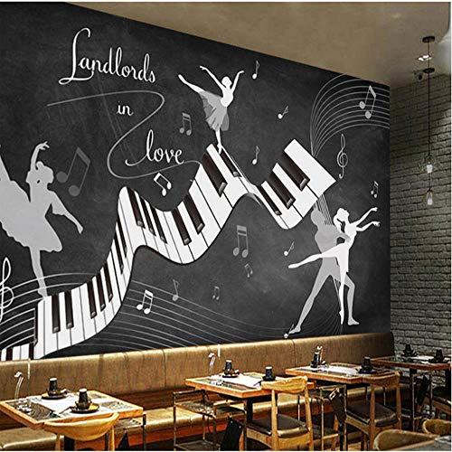 Benutzerdefinierte Fototapete Retro Vintage Ballett Kostüm 3D Wand Wohnzimmer Sofa Tv Hintergrund Wand Wasserdichte Fresko 3D Tapeten (Ballett Boy Kostüm)