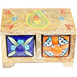[Sponsored]Mewar Arts And Design Wood Decorative Box (15 Cm X 9 Cm X 10 Cm, Brown, MA 36)