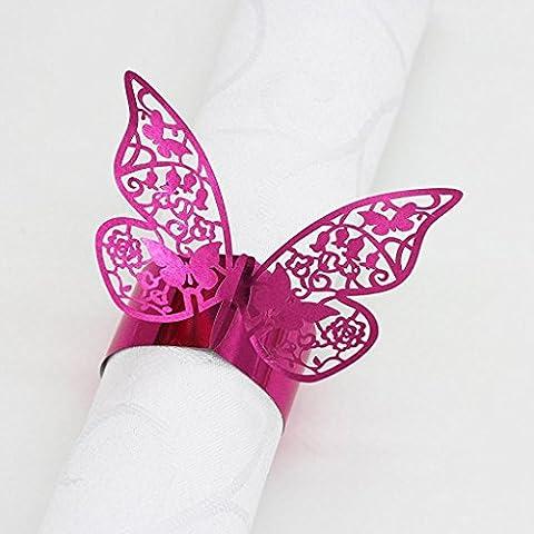 miizaru Hollow design Cards Portatovaglioli Wrappers Decorazione Farfalla Wedding Party Favors