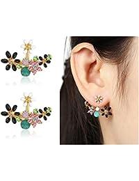 Shining Diva Fashion Multicolour Crystal Stylish Fancy Party Wear Stud Earrings for Women & Girls(8844er)