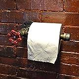 E-Greetshopping Industrie Urban Retro Wandhalterung Eisen Rohr WC-Papierrollenhalter