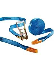 Slackstar SL81792-20 - Cuerdas para práctica de slackline para niños y principiantes (20 m, 50 mm), color azul