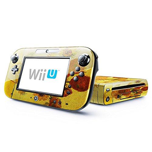 Preisvergleich Produktbild Van Gogh - Still Life With Sunflowers,  Designfolie Sticker Skin Aufkleber Schutzfolie mit Farbenfrohem Design für Nintendo Wii U