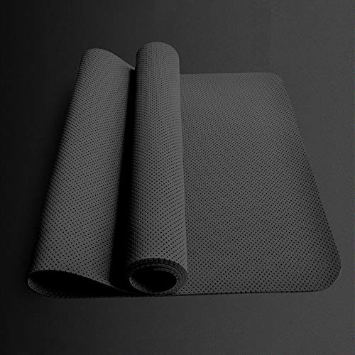JKNF Advanced TPE Yoga Matte, kein PVC, rutschfest, geeignet für Männer und Frauen Pilates Gymnastik Yoga Ausrüstung,176cm*62cm*5mm-Black (Yoga-ausrüstung Für Frauen)