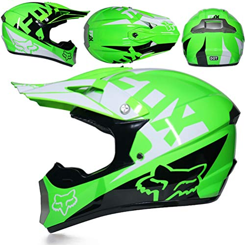 Preisvergleich Produktbild Herren Vollgesichts-Motorradhelm mit Geschenk,  Maske und Visier Off-Road-Motorradsturzhelme Moto Motocross Racing Protection Safety Caps