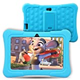 Dragon Touch Y88X Plus Kids Tablet Android 7 inch IPS Display Quad Core 1GB Ram 8GB Rom WIFI Bluetooth G-sensor Cameras Kidoz & Google Play Pre-Installed with Blue Case