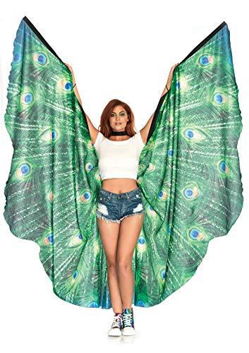 Feather Kostüm Wings - Leg Avenue A2786 - Peacock Feather Wings, Einheitsgröße (Mehrfarbig)