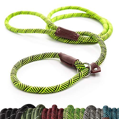 SCM Trainingsleine Hundeleine aus Premium Qualität Kletterseil mit Gepolsterte Griff, robust und strapazierfähig, grün