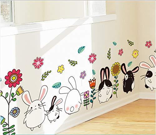 Yirenfeng Kinderzimmer Tapete Selbstklebende Babyschlafzimmerwand Kleine Tierkarikaturtapetenaufkleber, O
