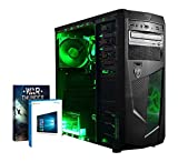 Vibox VBX-PC-00441 Submission 6W Gaming Desktop-PC (AMD A Series A8-7600, 8GB RAM, 1TB HDD, AMD Radeon R7, Win 10 Home) grün