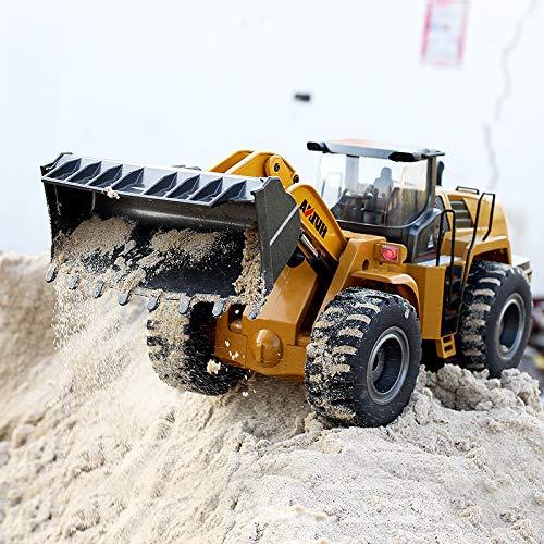 RC Auto kaufen Baufahrzeug Bild 2: s-idee® 18168 Metall Radlader 1:14 Profi mit Sound und Licht die Cast rc Modell Huina 583 1583*