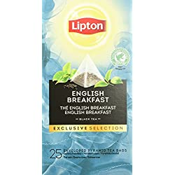 Lipton English Breakfast Schwarztee Pyramidbeutel, 2er Pack (2 x 50 g)