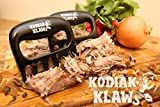 from Kodiak Klaws Original KODIAK KLAWS Pulled Pork Shredder Claws: Best Selling, Superior, Dynamic, Perfect, Strong, Heat Resistant, Indoor, Outdoor, BPA Free, Carving, Pulling, Smoking, Shred, Slow, Chef, Barbecue, Seasoned, BBQ, Smoker, Mixer, Bear, Meat, Handler, Fork, Gift, Accessories, Home, Kitchen, Tool, Charcoal, Supplies, Grill, Spaghetti, Salad, Gloves, Set of 2, Pair, Cook, Stove, Needs, Turner, Oven Mitts, Food, Paws, Master, Easily Cleaned, Non-Stick, Welded, FDA Approved