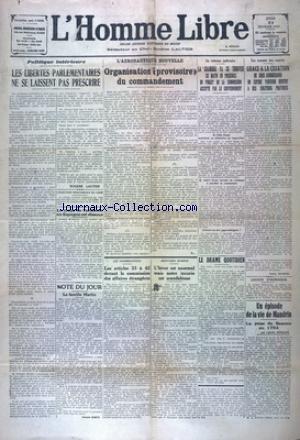 HOMME LIBRE (L') [No 4596] du 21/02/1929