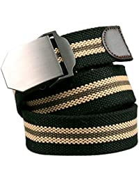 Alaix - Cinturón para hombre, de lona, ajustable, estilo militar, talla única