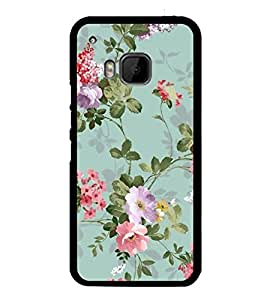 FUSON Classic Floral Decoration Isolated Designer Back Case Cover for HTC One M9 :: HTC One M9S :: HTC M9
