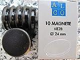 ALCO 6828V11 Magnete 24mm / 10 Stück / schwarz