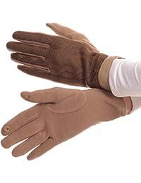 Sakkas Rayanne Soft Classic Knit-Leder-Handgelenk-Band-Touch-Screen-warme Handschuhe