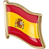 Spagna Bandiera Pin Badge di Metallo Spilla Spilla Spanish Flag Regalo della novità Risvolto Tie Pin Badge Accessori