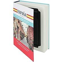 """HMF 80945 caja fuerte en forma de libro, caja de caudales camuflada, páginas de papel auténticas, """"España"""", 23 × 15 × 4 cm, rotulación en español"""
