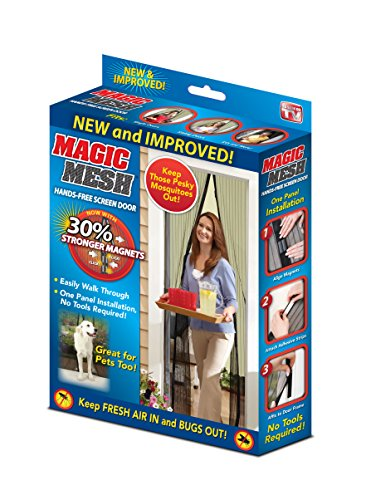 34cf768f82c Allstar Innovations MM011124 Magic Mesh-Magnetic Screen Door, Black, 83 X 39